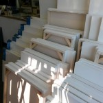 We stock handmade canvas and Winsor & Newton canvas in pine box and stretcher.