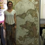 Lisa-marie standing in front of this map to show how big it is.