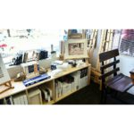 The front window space where you will find an antique school desk where your child can sit and