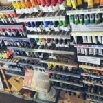 A selection of oil and acrylic paint.
